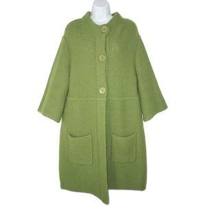 Eileen Fisher L Merino Wool Sweater Coat Cardigan